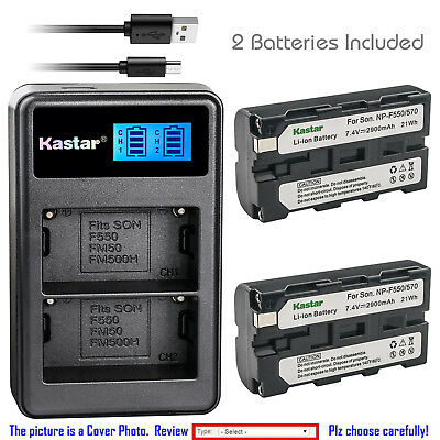 Kastar Battery LCD Dual Charger for Sony NP-F550 & CCD-TRV43 CCD-TRV45 CCD-TRV46