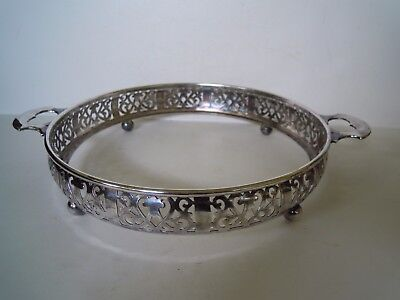 Antique Silver 'Duchess Plate 1891' Pie Plate Stand, Reticulated