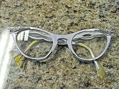 1950's Vintage Romco Ladies Cat Eye Glasses, Aluminium Frame