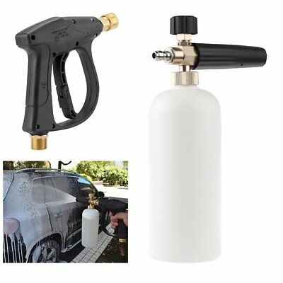 Best High Pressure Washer Gun Car Cleaning Water Jet Snow Foam Lance w/Cannon