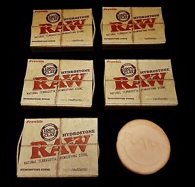 5 Raw Rolling Paper Hydrostone 100% Natural Terracotta Clay Humidifying Stone