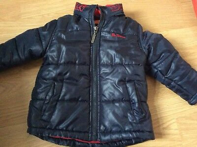 Ben Sherman Baby Boy,Toddler,Infant Blue Thick Padded,Puffa Jacket 9/12 Months