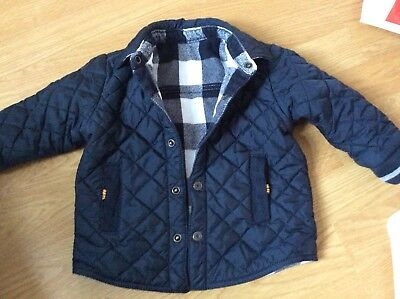 Timberland Boys Toddler Infant Age 18 Months QuiltedReversable Lumberjack Jacket