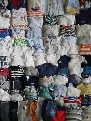 Massive Baby Boys Spring Summer Clothes Bundle 0 - 3 Months/Over 90 Items