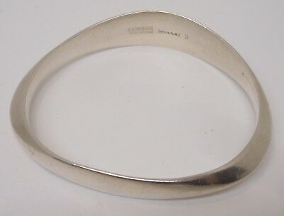 Estate Rare David Anderson Norway Bangle Sterling Bracelet, 46.4 gr