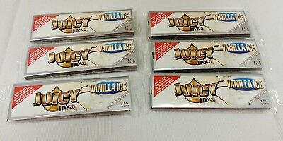 6 Packs JUICY JAY'S SUPERFINE Vanilla Ice  1 1/4 Rolling Papers Free Shipping