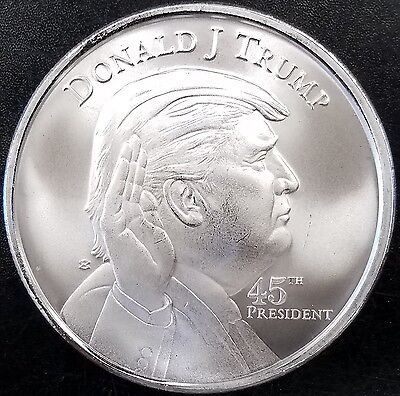Donald J. Trump, 45th President, 1 Troy Ounce .999 Fine Silver Round!
