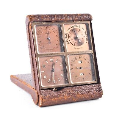 Antique Abercrombie & Fitch Foursome Travel Clock