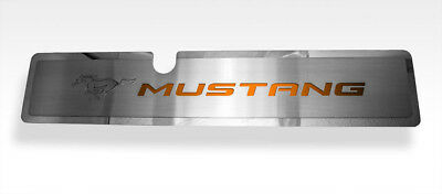 Radiator Cover With Orange Fury MUSTANG Pony Inlay For 2015-2017 Mustang GT