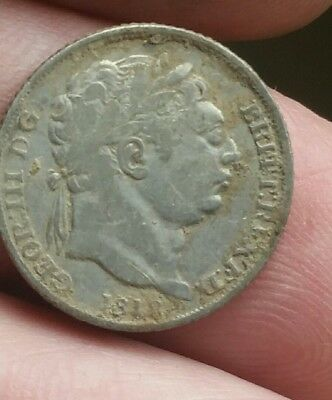 George lll silver sixpence 1816