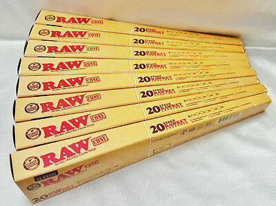 8 Raw Rawket Launcher 20 Stage 20 Cones Per Pack Pre Rolled Supernatural & More