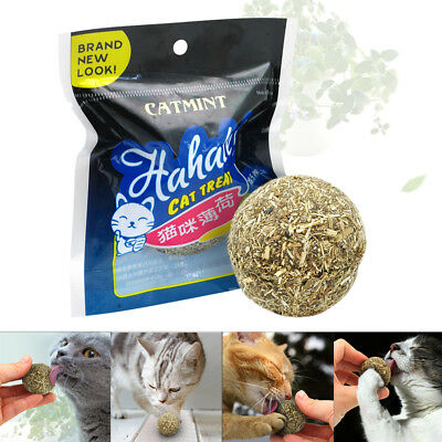 Catnip Cat Toys Natural Healthy Funny Mint Ball Treats Cleaning for Pets Kitten