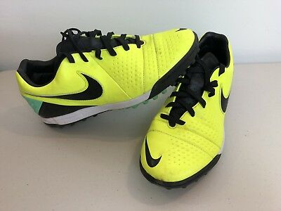 Nike Mens Astro Turf Football Boots Trainers Fluro Yellow Lace Up Size 7