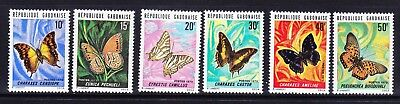 GABON 1973 SG481/6 Butterflies - set of 6 - superb unmounted mint. Cat £20