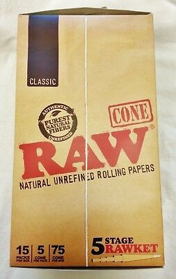 Full Box Raw Rawket 5 Stage 5 Per Pack Pre Rolled Emperador, Kingsize & Others