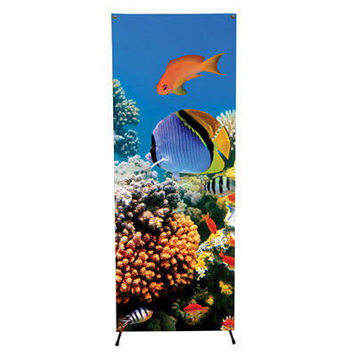 Xbanner Stand with Custom Printed Vinyl Banner