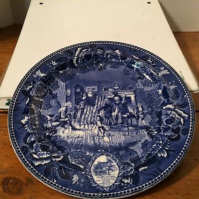 Wedgwood Collectible Flow Blue Plate  Made in England