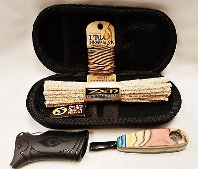 Handcrafted Wooden Pipe Bundle Case Cleaners Screens Wick Toker Poker More