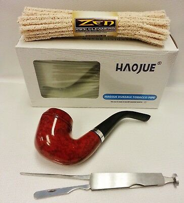 HAOJUE Smoking Wooden Pipe & Zen Hard Pipe Cleaners & Cleaning Tool (NV0302)