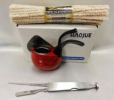 HAOJUE Smoking Wooden Pipe & Zen Hard Pipe Cleaners & Cleaning Tool (NV0304)