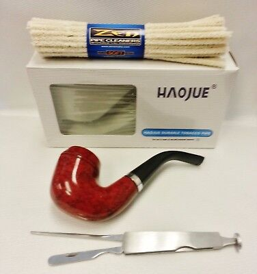 HAOJUE Smoking Wooden Pipe & Zen Soft Pipe Cleaners & Cleaning Tool (NV0302)