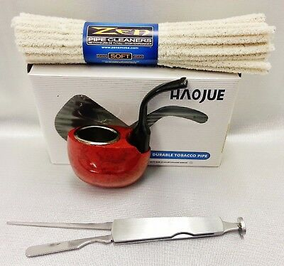 HAOJUE Smoking Wooden Pipe & Zen Soft Pipe Cleaners & Cleaning Tool (NV0304)