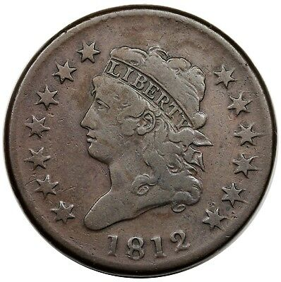 1812 Classic Head Large Cent, Large Date, S-289, F+
