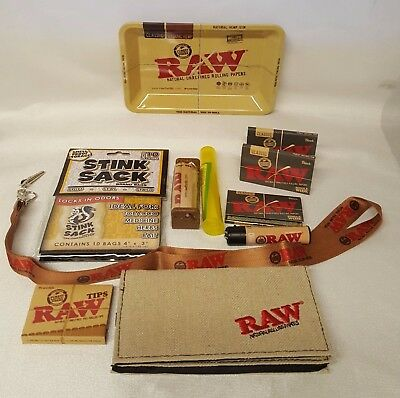 Large Bundle Raw Black Rolling Papers Single Wide Small Tray Roller Wallet More