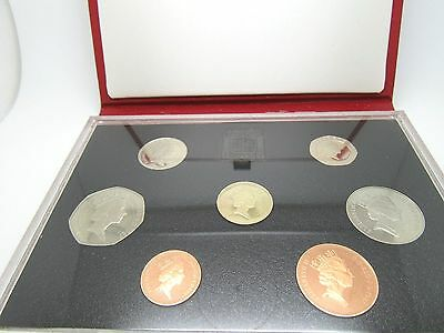 1987 Royal Mint United Kingdom Proof Coin Collection Set W/coa
