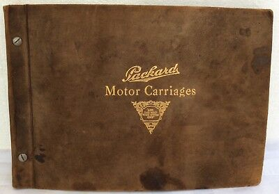 Old 1912 PACKARD Standard Touring Coupe •rare DEALER sales SHOWROOM PHOTO ALBUM•