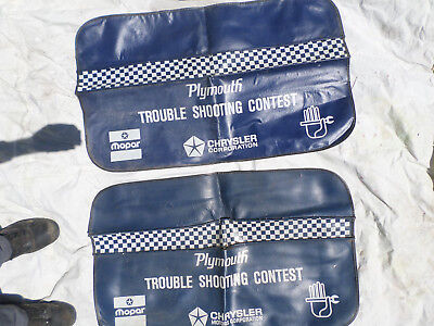 Vintage Plymouth Mopar trouble shooting contest fender covers .