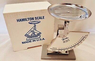New in Box Hamilton 500-16 500 Gram 1 Pound Jewelry Meat Scale Free Shipping