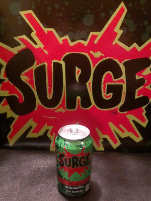 Surge Soda, Brand New, Unopened 12 oz Can by Coca Cola