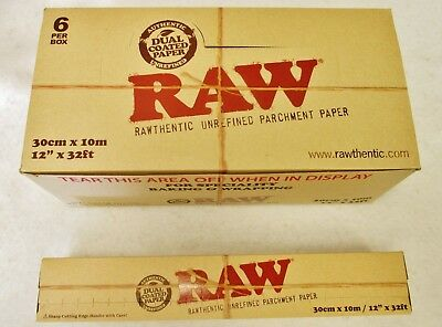 """One Box of RAW Unrefined Parchment Paper Specialty Baking & Wrapping 12"""" x 32ft"""