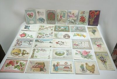 Lot of Vintage Postcards From Early 1900's - 1920's, Lot 1