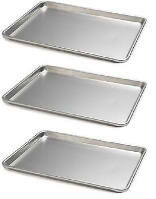 Focus Foodservice (900850) Commercial Half Size Sheet Pans, Set of 3 (13-Inch x