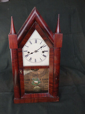 Chauncey Jerome spring driven steeple clock circa 1845-55