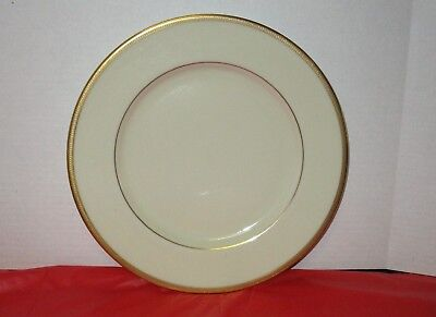 "Lenox TUXEDO Ivory China / Gold Backstamp 10 5/8"" Dinner Plate (s)"