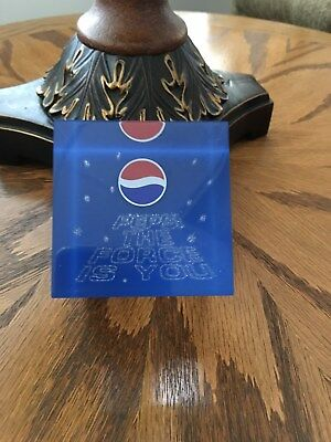"""Lucity Pepsi Cube """"The Force is. you"""" Paperweight"""