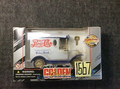 Golden Classic Die-Cast Vintage Pepsi-Cola Truck Bank