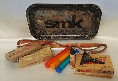 "SMK Tray 6.25"" X 10.5"" 1 1/4 LEAN CONES BUNDLE RAW LOADER TIN 20 CONES LANYARD"