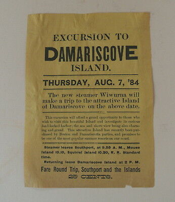 1884 Steamboat Broadside To Damariscove Island Maine From Southport And Squirrel