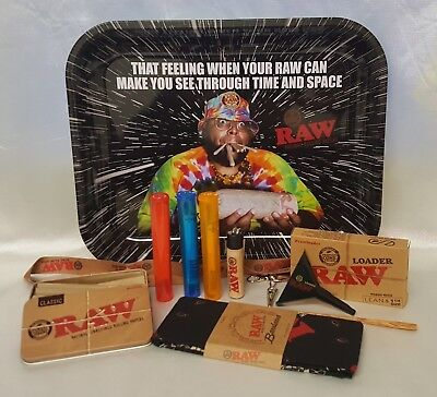 "Time & Space TRAY Large 13""X11"" 20 CONES 1 1/4 BUNDLE RAW LOADER TIN BANDANA"
