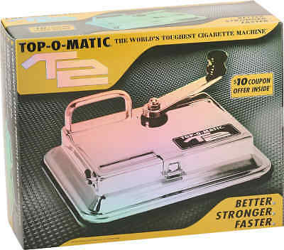 Top-O-Matic T2 Chrome Cigarette Tube Injector Machine Makes King's or 100's