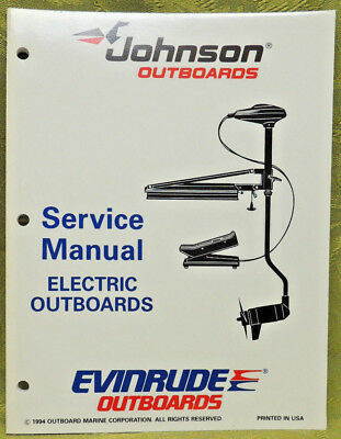 1995 Johnson Outboard Service Repair Manual Electric Outboards Evinrude