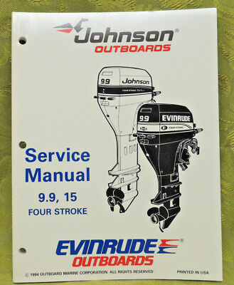 1995 Johnson Outboard Service Repair Manual 9.9 15 Four Stroke HP Evinrude