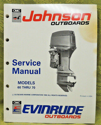 1991 Johnson Outboard Service Repair Manual 60 65 70 HP Evinrude