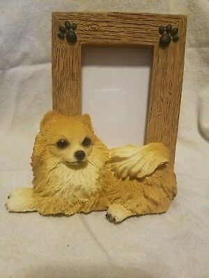"""Pomeranian picture frame - holds one 2.5"""" x 3.5"""" picture"""