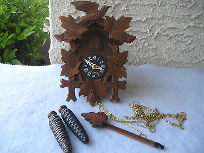 Hubert Herr Vintage Small Black Forest Cuckoo Clock W/coa