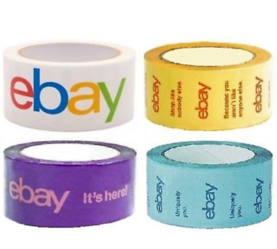 Official eBay Brand Logo Packaging Tape 4 ROLLS BOPP Shipping Packing Box
